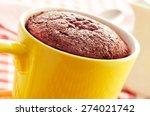 Closeup Of A Chocolate Mug Cak...
