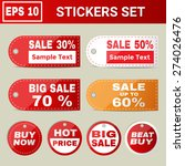 stickers set for sale | Shutterstock .eps vector #274026476