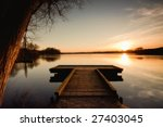the bridge to the lake under... | Shutterstock . vector #27403045