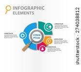 magnifier infographics elements ... | Shutterstock .eps vector #274038812