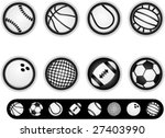8 ball buttons with icons... | Shutterstock .eps vector #27403990