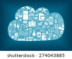 smart home cloud computing.... | Shutterstock .eps vector #274043885