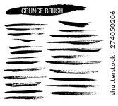 set of hand drawn grunge brush...   Shutterstock .eps vector #274050206