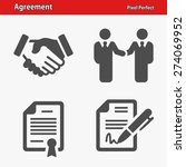 agreement icons. professional ... | Shutterstock .eps vector #274069952