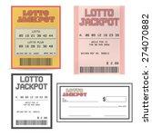 lotto ticket | Shutterstock .eps vector #274070882