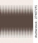 retro brown halftone abstract... | Shutterstock .eps vector #27407191