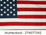 closeup of american flag stars... | Shutterstock . vector #274077242