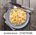 pasta carbonara | Shutterstock . vector #274079288