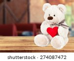Teddy Bear  Heart Shape ...
