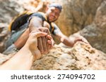 rock climbing  mountain... | Shutterstock . vector #274094702