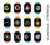vector popular smart watch...