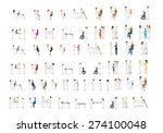 medical staff and patients... | Shutterstock .eps vector #274100048
