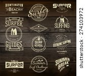 surf badges logos and labels... | Shutterstock .eps vector #274103972