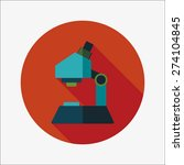 microscope flat icon with long... | Shutterstock . vector #274104845