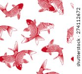 carp pattern | Shutterstock .eps vector #274112672