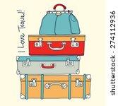 i love travel. travel... | Shutterstock .eps vector #274112936