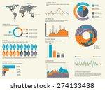 various business infographics... | Shutterstock .eps vector #274133438