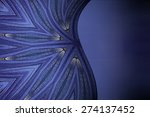 curves abstract blue tone... | Shutterstock . vector #274137452
