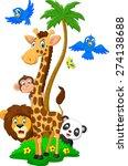 Stock vector cartoon island animals 274138688