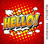 hello     comic speech bubble ... | Shutterstock .eps vector #274138736