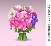 bouquet of flowers | Shutterstock .eps vector #274140452
