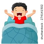 cartoon children wake up | Shutterstock .eps vector #274141502