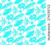 beautiful seamless tropical... | Shutterstock . vector #274150712