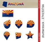 Arizona Flag Set  Us State ...