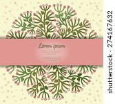 vector card with round floral... | Shutterstock .eps vector #274167632