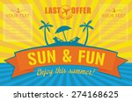 summer poster. travel agency... | Shutterstock .eps vector #274168625