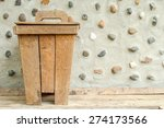 the old wooden bin at cement... | Shutterstock . vector #274173566