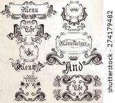 vector set of calligraphic... | Shutterstock .eps vector #274179482