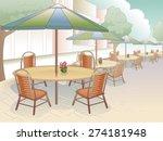 illustration of a restaurant...   Shutterstock .eps vector #274181948
