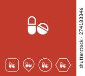 medicines icon on flat ui...