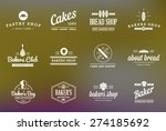 set of vector bakery pastry... | Shutterstock .eps vector #274185692