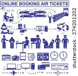 online booking air tickets. set ... | Shutterstock .eps vector #274201202