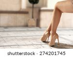 legs of woman and heels  | Shutterstock . vector #274201745
