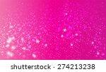 Magic Glow And Bokeh On A Pink...