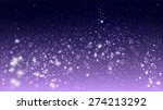 magic glow and bokeh on purple... | Shutterstock .eps vector #274213292