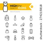 Stock vector women accessories line icons series 274215818