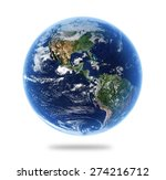 isolated earth with depth of... | Shutterstock . vector #274216712