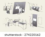 exhibition sketch. vector | Shutterstock .eps vector #274220162