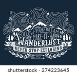 hand drawn vintage label with... | Shutterstock .eps vector #274223645