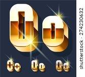 vector set of gold shiny 3d...   Shutterstock .eps vector #274230632