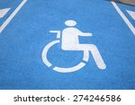 blue and white disabled parking ... | Shutterstock . vector #274246586