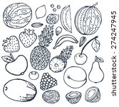 freehand color drawing fruits . ... | Shutterstock .eps vector #274247945