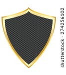 black shield with gold border... | Shutterstock .eps vector #274256102