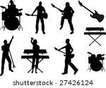 musician silhouettes | Shutterstock . vector #27426124