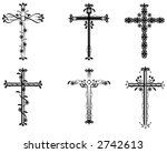 a set of six vector crosses...   Shutterstock .eps vector #2742613