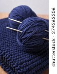 unfinished knitting on the table | Shutterstock . vector #274263206
